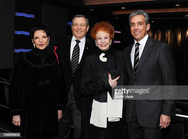 Actress Liza Minnelli President of Academy of Motion Picture Arts and Sciences Tom Sherak actress Arlene Dahl and Charles Cohen Lighthouse board...