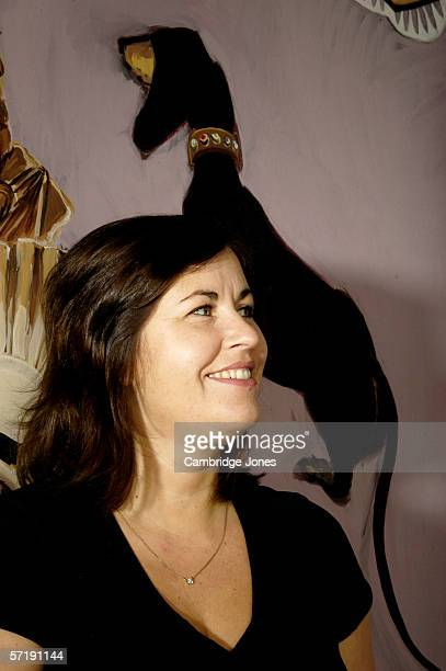 Actress Liza Tarbuck poses during a photo call held on December 1 2004 at her home in London England