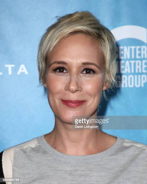 Actress Liza Weil attends the opening night of 'Soft Power' presented by the Center Theatre Group at the Ahmanson Theatre on May 16 2018 in Los...