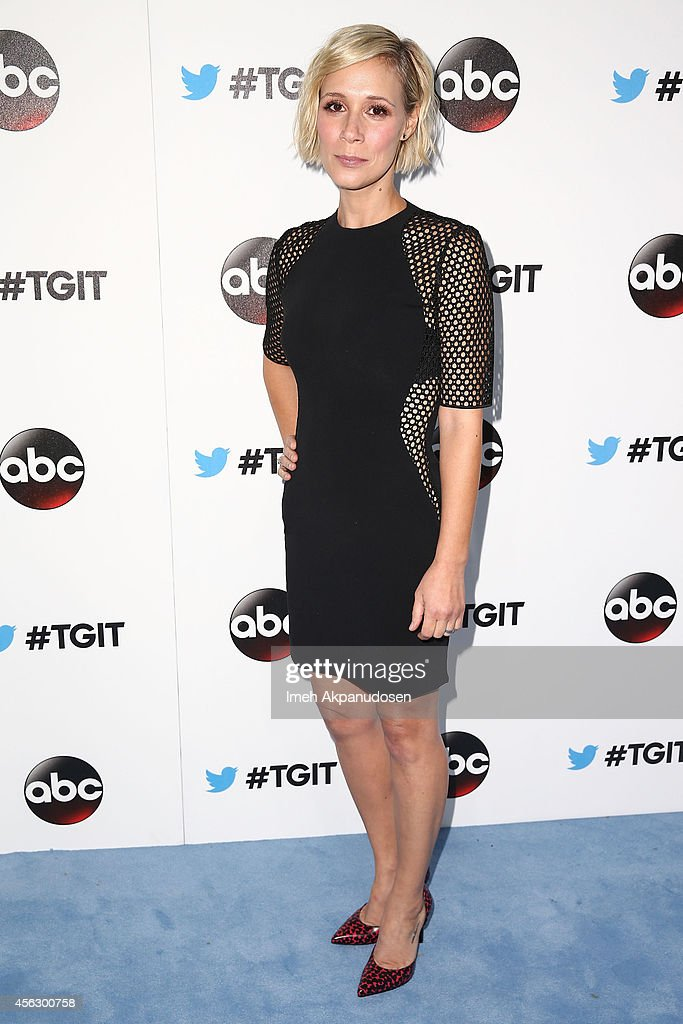 Actress Liza Weil attends the TGIT Premiere event at Palihouse on September 20, 2014 in West Hollywood, California.