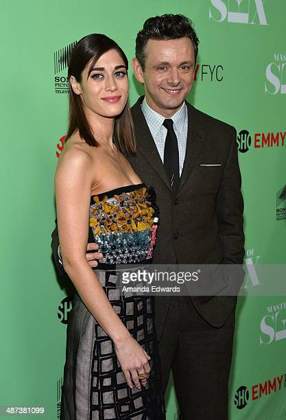 Actress Lizzy Caplan and actor Michael Sheen arrive at Showtime's Masters Of Sex special screening and panel discussion at the Leonard H Goldenson...