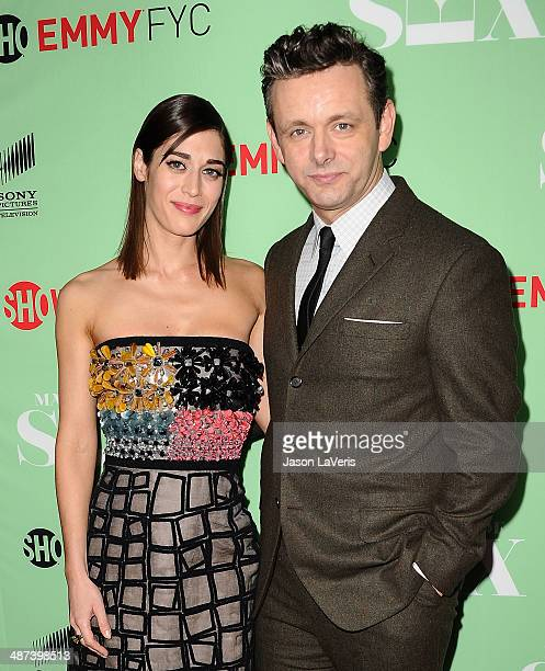 "Actress Lizzy Caplan and actor Michael Sheen attend Showtime's ""Masters Of Sex"" special screening and panel discussion at Leonard H. Goldenson..."