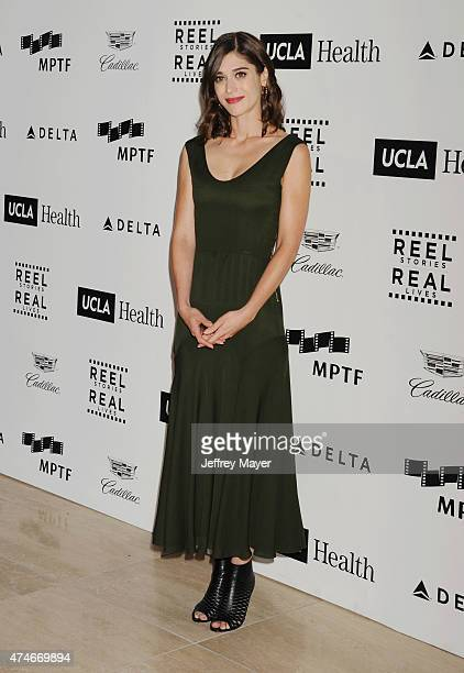 Actress Lizzy Caplan arrives at the 4th Annual Reel Stories Real Lives event benefiting the Motion Picture Television Fund at Milk Studios on April...