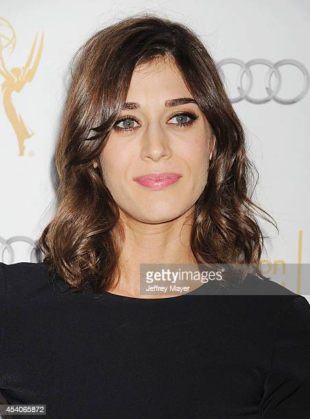 Actress Lizzy Caplan arrives at the Television Academy's 66th Emmy Awards Performance Nominee Reception at the Pacific Design Center on Saturday Aug...