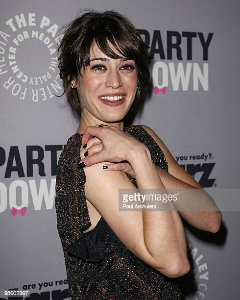 Actress Lizzy Caplan arrives for the Paley Center for Media presentation of 'Party Down' at The Paley Center for Media on April 21 2010 in Beverly...