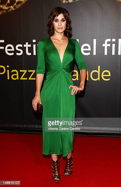 Actress Lizzy Caplan attends 'Bachelorette' premiere during the 65th Locarno Film Festival on August 6 2012 in Locarno Switzerland