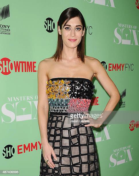 Actress Lizzy Caplan attends Showtime's 'Masters Of Sex' special screening and panel discussion at Leonard H Goldenson Theatre on April 29 2014 in...