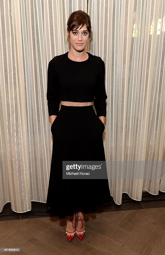Actress Lizzy Caplan attends the 14th annual AFI Awards Luncheon at the Four Seasons Hotel Beverly Hills on January 10, 2014 in Beverly Hills, California.