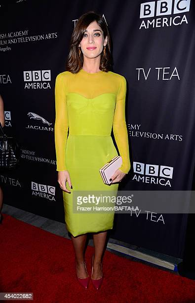 Actress Lizzy Caplan attends the 2014 BAFTA Los Angeles TV Tea presented by BBC America And Jaguar at SLS Hotel on August 23 2014 in Beverly Hills...