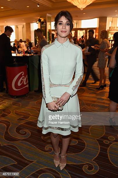 Actress Lizzy Caplan attends the 2014 Variety Power of Women presented by Lifetime at Beverly Wilshire Four Seasons Hotel on October 10 2014 in Los...