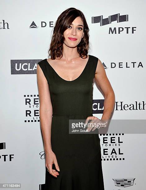 Actress Lizzy Caplan attends the 4th Annual Reel Stories Real Lives benefiting the Motion Picture Television Fund at Milk Studios on April 25 2015 in...