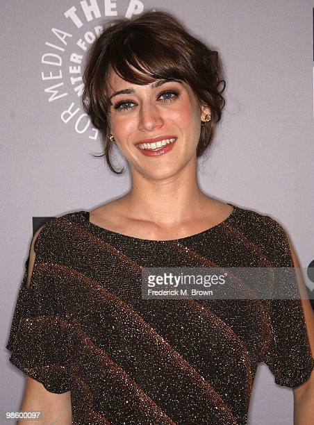 "Actress Lizzy Caplan attends the Paley Center for Media Presents ""Party Down"" on April 21, 2010 in Beverly Hills, California."