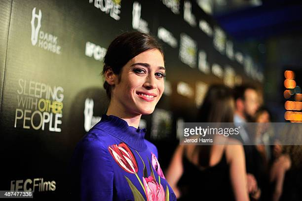 Actress Lizzy Caplan attends the Premiere of IFC Films' 'Sleeping With Other People' at ArcLight Cinemas on September 9 2015 in Hollywood California