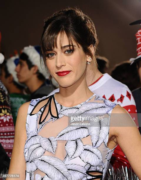 Actress Lizzy Caplan attends the premiere of The Night Before at The Theatre At The Ace Hotel on November 18 2015 in Los Angeles California