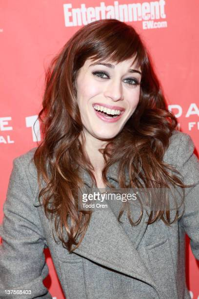 Actress Lizzy Caplan attends the 'Save The Date' premiere during the 2012 Sundance Film Festival held at Library Center Theater on January 22 2012 in...