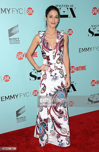 Actress Lizzy Caplan attends the Showtime and Sony Pictures Television's 'Masters Of Sex' screening at Cary Grant Theater on May 5 2015 in Culver...