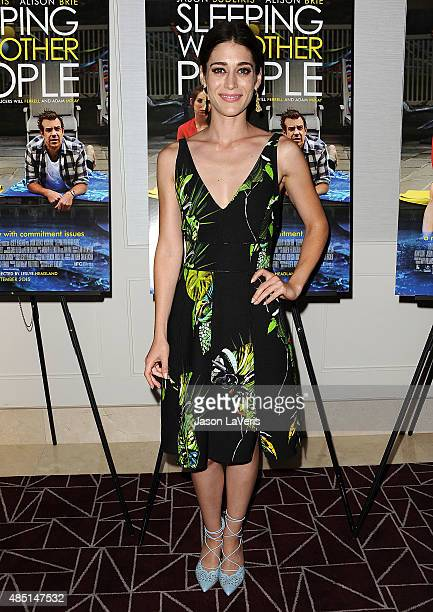 Actress Lizzy Caplan attends the tastemaker screening of IFC Films' 'Sleeping With Other People' on August 24 2015 in West Hollywood California