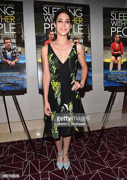 "Actress Lizzy Caplan attends the Tastemaker screening of IFC Films' ""Sleeping With Other People"" on August 24, 2015 in Los Angeles, California."