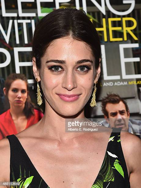 Actress Lizzy Caplan attends the Tastemaker screening of IFC Films' 'Sleeping With Other People' on August 24 2015 in Los Angeles California