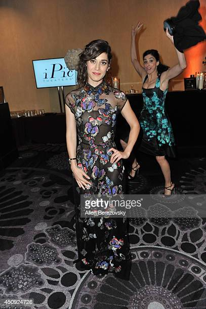 Actress Lizzy Caplan gets photobombed by Sarah Silverman at the 4th Annual Critics' Choice Television Awards at The Beverly Hilton Hotel on June 19,...