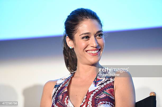 "Actress Lizzy Caplan speaks at the screening of Showtime and Sony Pictures Television's ""Masters Of Sex"" at the Cary Grant Theater on May 5, 2015 in..."
