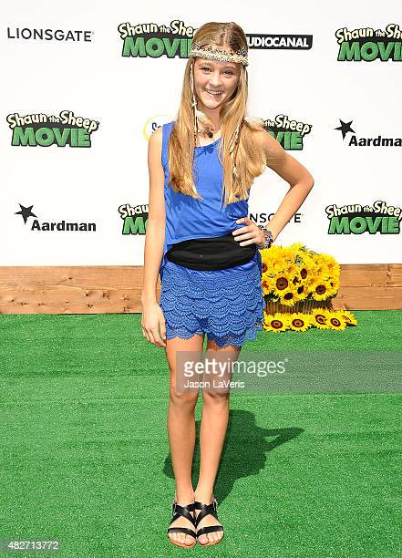 Actress Lizzy Greene attends a screening of Lionsgate's Shaun The Sheep Movie at Regency Village Theatre on August 1 2015 in Westwood California