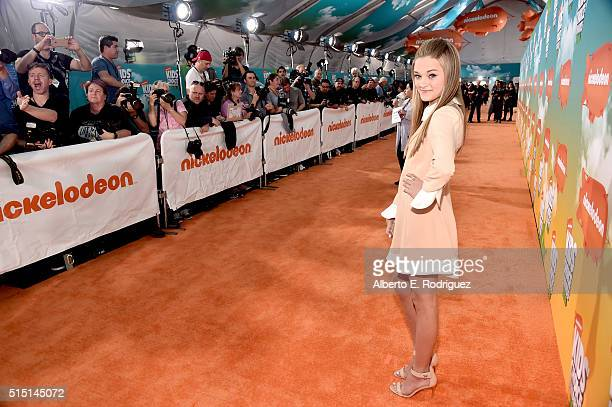 Actress Lizzy Greene attends Nickelodeon's 2016 Kids' Choice Awards at The Forum on March 12 2016 in Inglewood California
