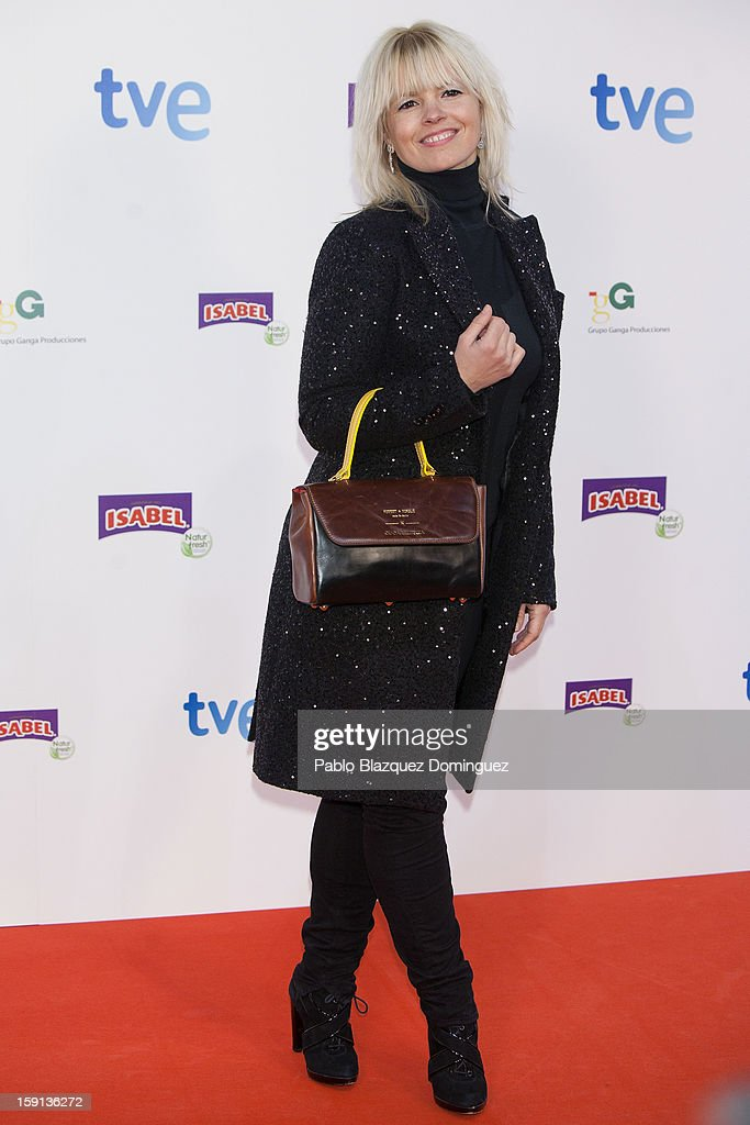 Actress Lluvia Rojo attends 'Cuentame Como Paso' 14th Season presentation at Capitol Cinema on January 8, 2013 in Madrid, Spain.