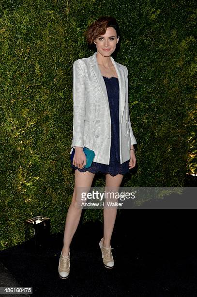 Actress Loan Chabanol attends the CHANEL Tribeca Film Festival Artists Dinner at Balthazar on April 22 2014 in New York City