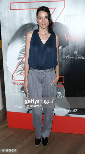 Actress Loan Chabanol attends the premiere of House of Z hosted by Brooks Brothers with The Cinema Society at Crosby Street Hotel on September 7 2017...