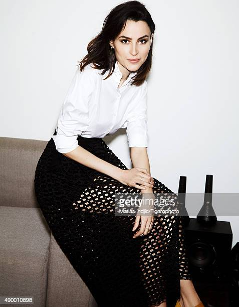 Actress Loan Chabanol is photographed for Madame Figaro on May 16 2015 in Paris France Shirt skirt earrings ring and bracelet PUBLISHED IMAGE CREDIT...