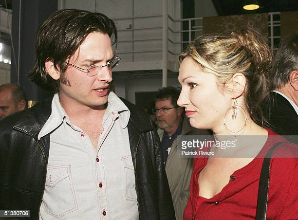 Actress Loene Carmen and actor Aidan Young attend the 2004 AFI Awards Nominations at the Wharf Restaurant October 1 2004 in Sydney Australia