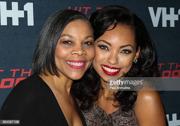 Actress Logan Browning and her Mother Lynda Browning attend the premiere of VH1's Hit The Floor Season 3 at The Paramount Theater on the Paramount...