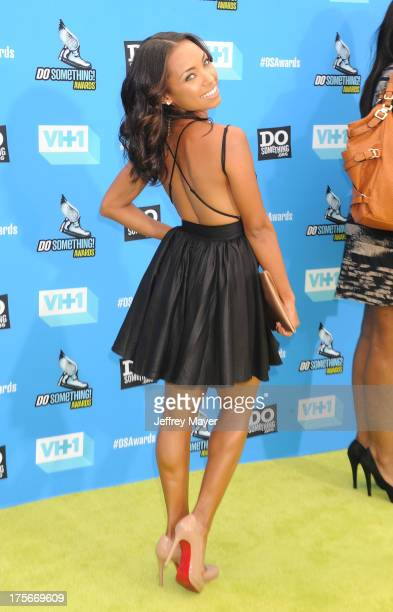 Actress Logan Browning arrives at the DoSomethingorg and VH1's 2013 Do Something Awards at Avalon on July 31 2013 in Hollywood California