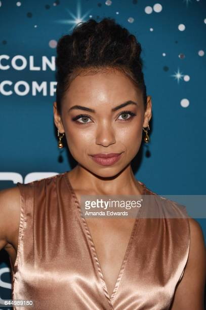 Actress Logan Browning arrives at the Essence 10th Annual Black Women in Hollywood Awards Gala at the Beverly Wilshire Four Seasons Hotel on February...