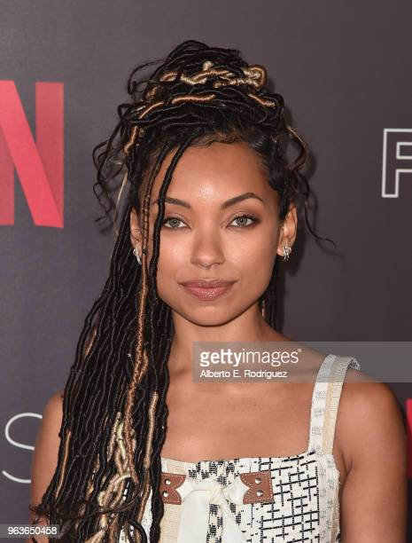 Actress Logan Browning attends Comediennes In Conversation at Netflix FYSEE at Raleigh Studios on May 29 2018 in Los Angeles California