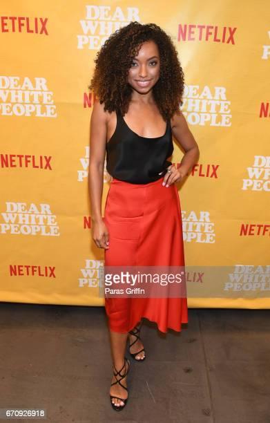 Actress Logan Browning attends Dear White People Atlanta screening at The Gathering Spot on April 20 2017 in Atlanta Georgia