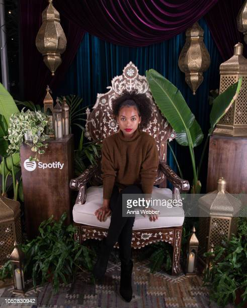 Actress Logan Browning attends Spotify Honors Black Female Creatives For Black History Is Happening Now Campaign on October 22 2018 in Santa Monica...