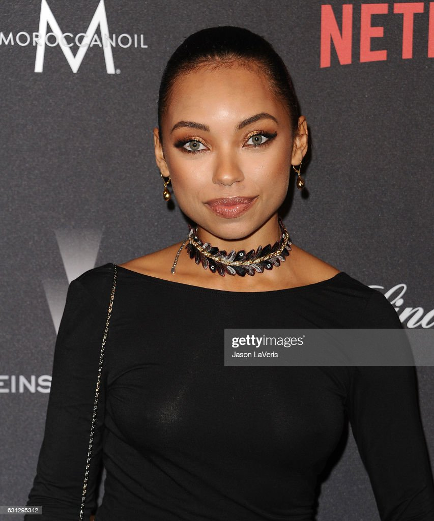 Actress Logan Browning attends the 2017 Weinstein Company and Netflix Golden Globes after party on January 8, 2017 in Los Angeles, California.