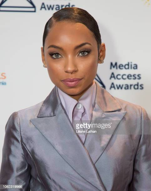 Actress Logan Browning attends the 2018 Media Access Awards at the Beverly Hills Hotel on November 01 2018 in Beverly Hills California