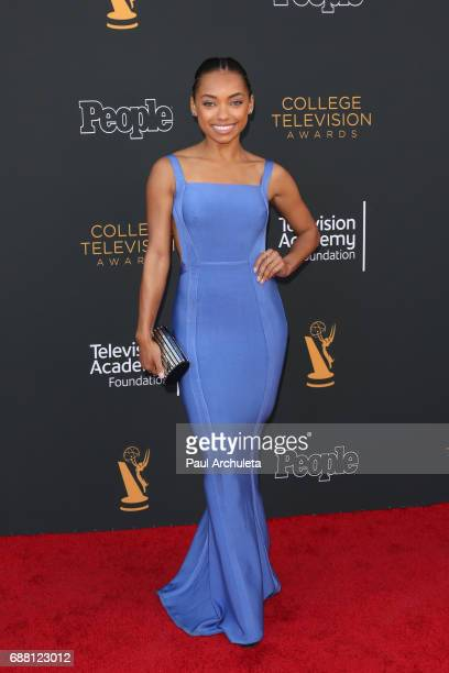 Actress Logan Browning attends the 38th College Television Awards at Wolf Theatre on May 24 2017 in North Hollywood California