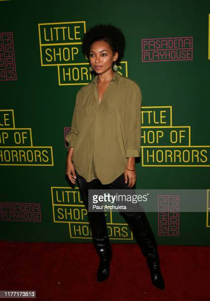 """Actress Logan Browning attends the opening night of """"Little Shop Of Horrors"""" at the Pasadena Playhouse on September 25, 2019 in Pasadena, California."""