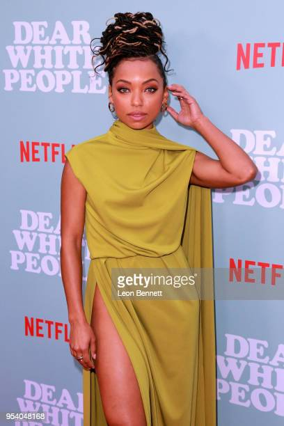 Actress Logan Browning attends the Screening Of Netflix's Dear White People Season 2 Arrivals at ArcLight Cinemas on May 2 2018 in Hollywood...