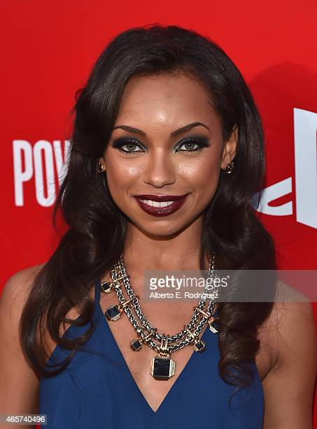 Actress Logan Browning attends the series premiere of Sony Television's 'Powers' at Sony Pictures Studios on March 9 2015 in Culver City California