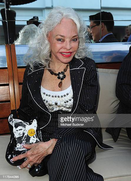 Actress Lois Aldrin attends the celebration for Cirque De Soleil Founder Guy Laliberte's new publication Gaia at the SLS Hotel at Beverly Hills on...