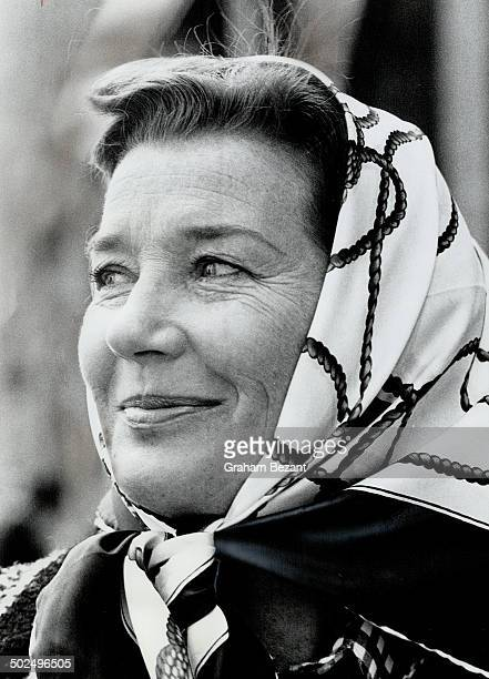 Actress Lois Maxwell. She challenges Canadian producers to give her work.