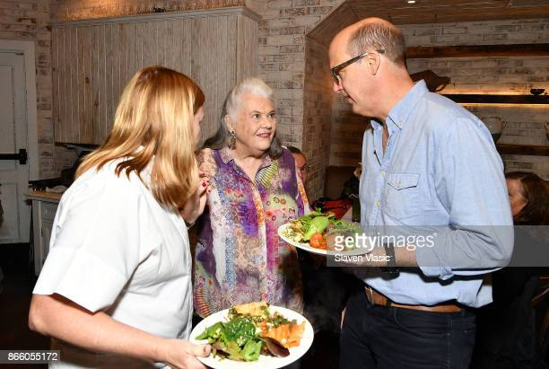 Actress Lois Smith actor Anthony Edwards and a guest attend 'Marjorie Prime' special screening and reception at Anassa Taverna on October 24 2017 in...
