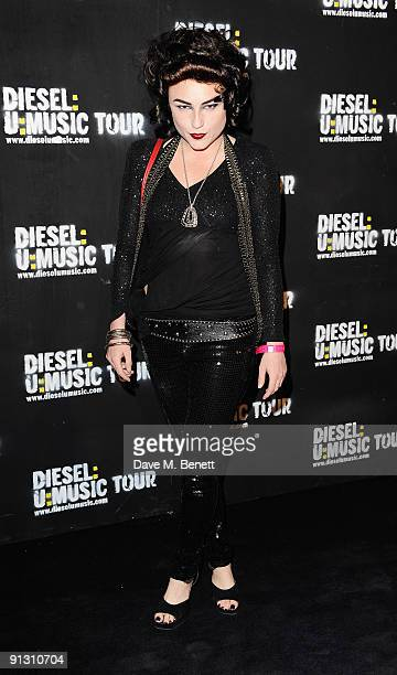Actress Lois Winstone attends the DieselUMusic World Tour Party held at the University of Westminster on October 1 2009 in London England