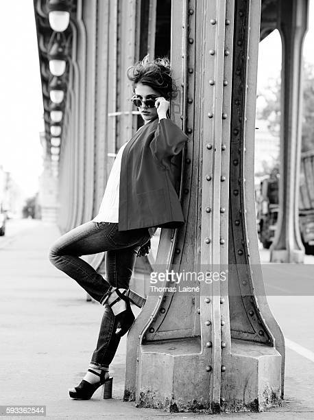 Actress Lola Bessis is photographed for Self Assignment on May 6 2014 in Paris France
