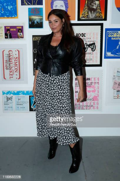 Actress Lola Dewaere attends Albert Koski exposes its Rock&Roll Posters Collection at Galerie Laurent Godin on June 03, 2019 in Paris, France.